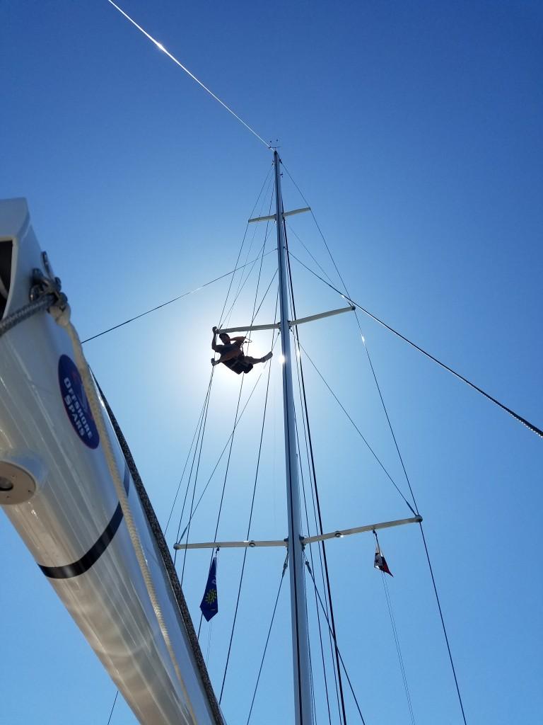 Ray up mast
